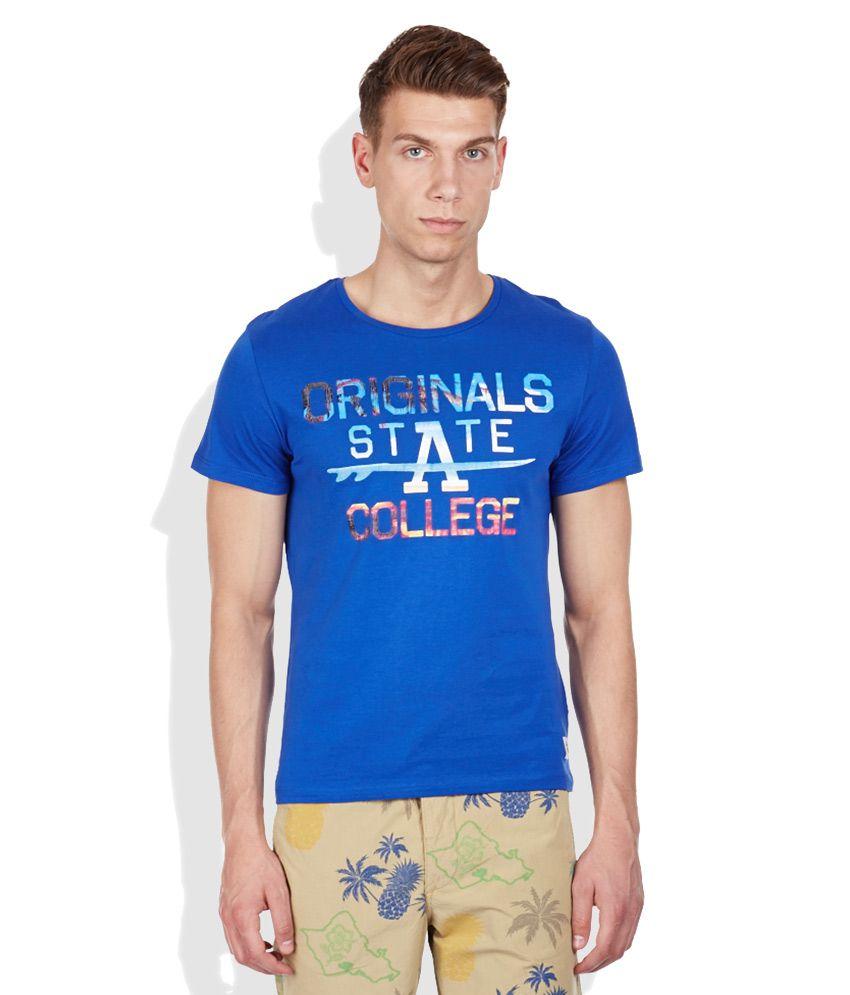Jack & Jones Blue Round Neck T-Shirt