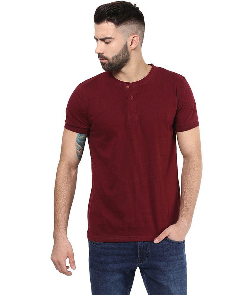 Unisopent Designs Maroon Cotton Full Sleeves T-Shirt