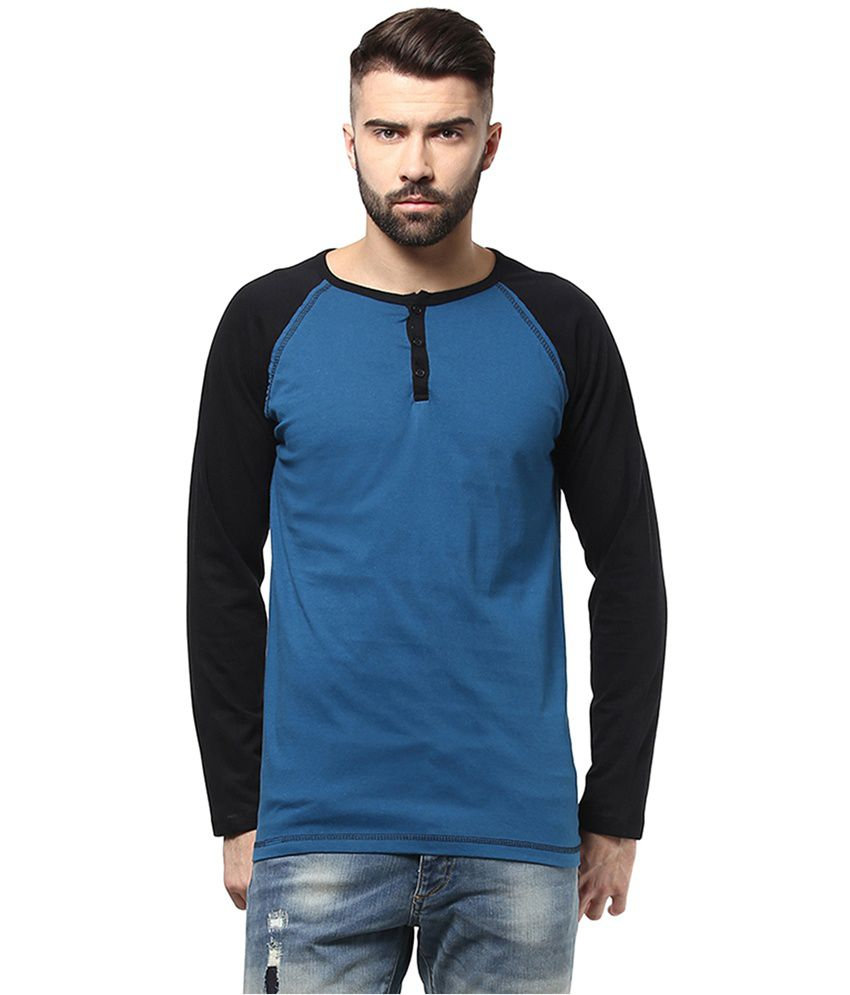 Unisopent Designs Turquoise Cotton Full Sleeves T-Shirt