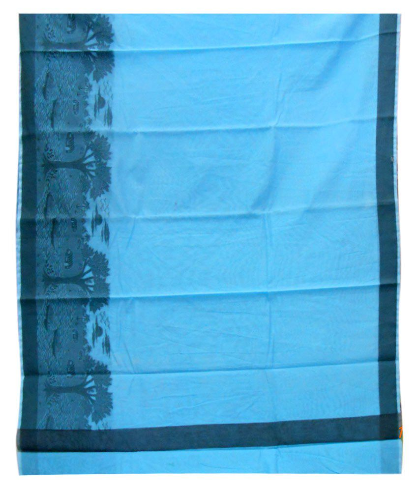 Vallabh Das & Co Blue&Black Art Silk Saree