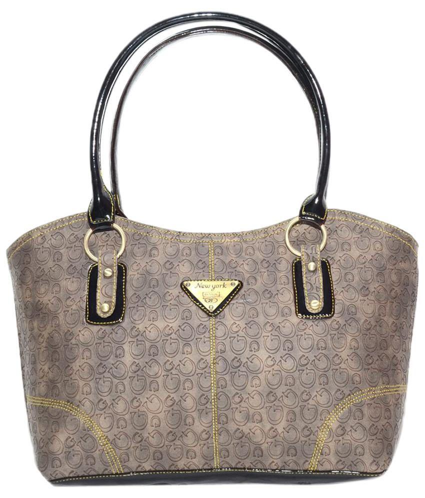 Nation Mania SME_CL_113 Gray Shoulder Bags