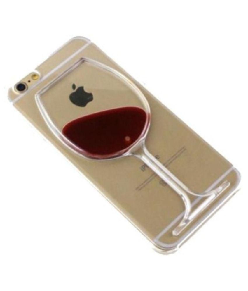 buy online d4af5 53198 Fasaal red wine glass back cover for Iphone 6s