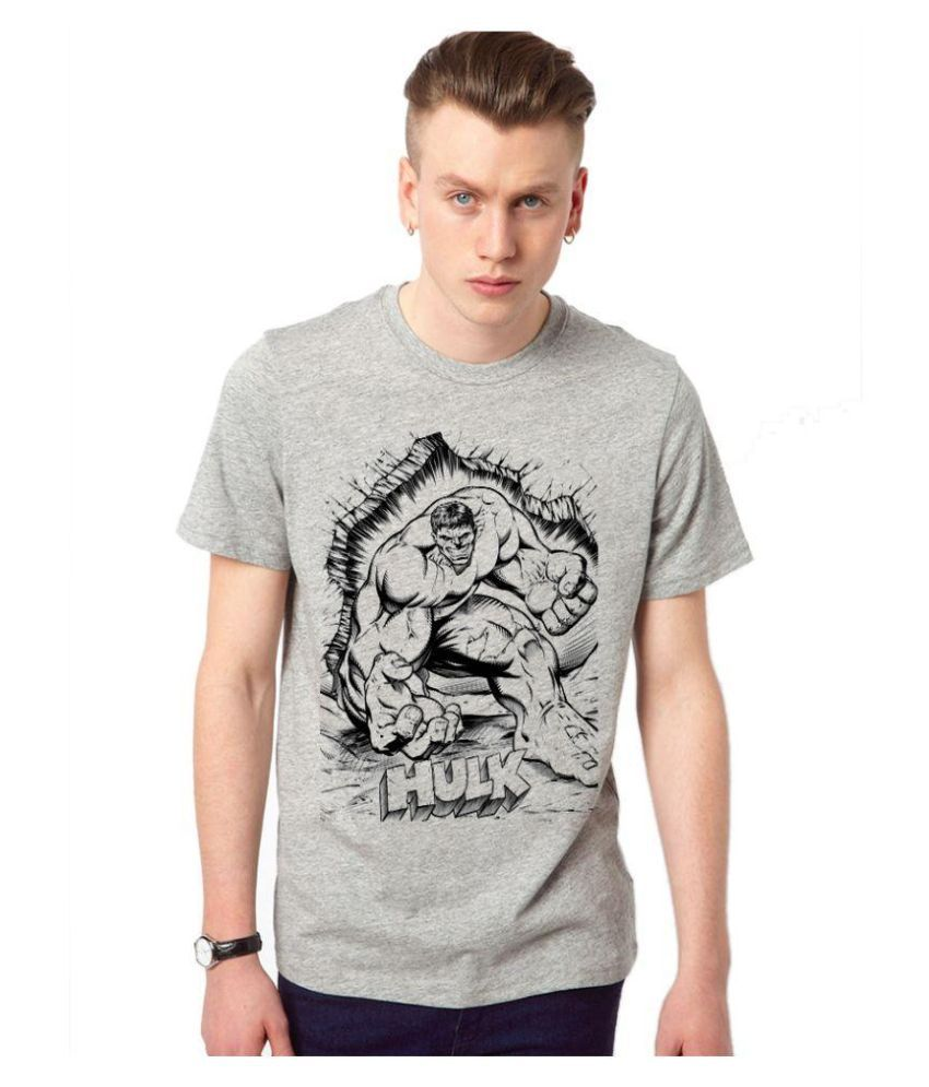 Iqu Traders Grey Round T Shirt