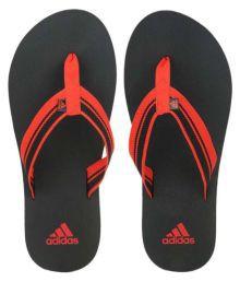 Adidas Red Flip Flops
