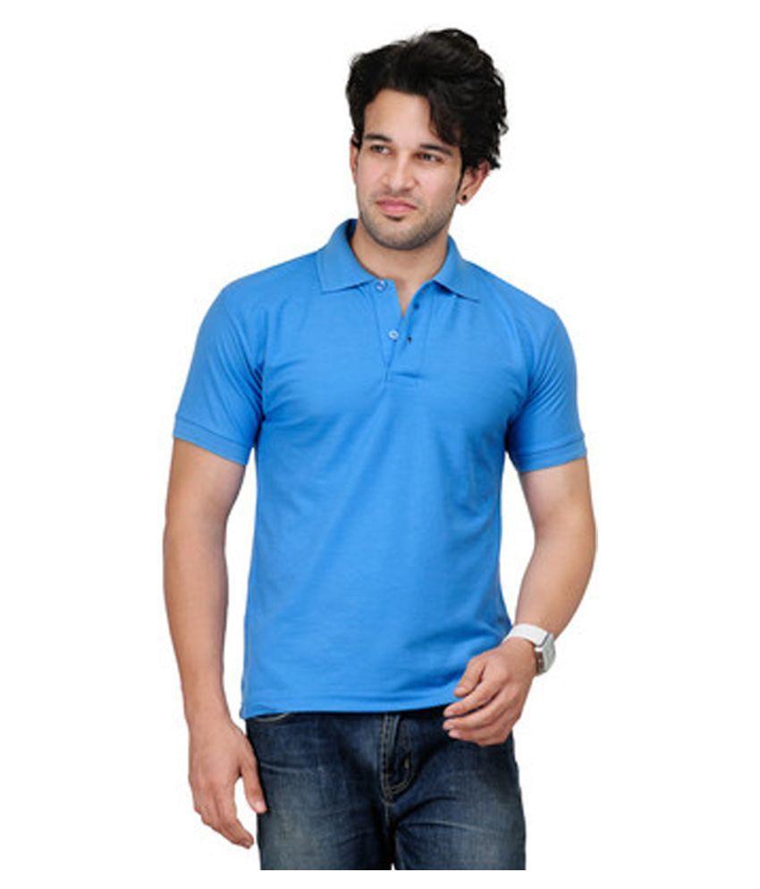 CONCEPTS Blue Cotton Polo T-Shirt
