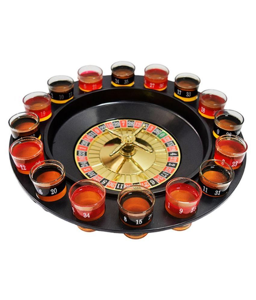 Barworld Multicolor Glass Drinking Roulette Set