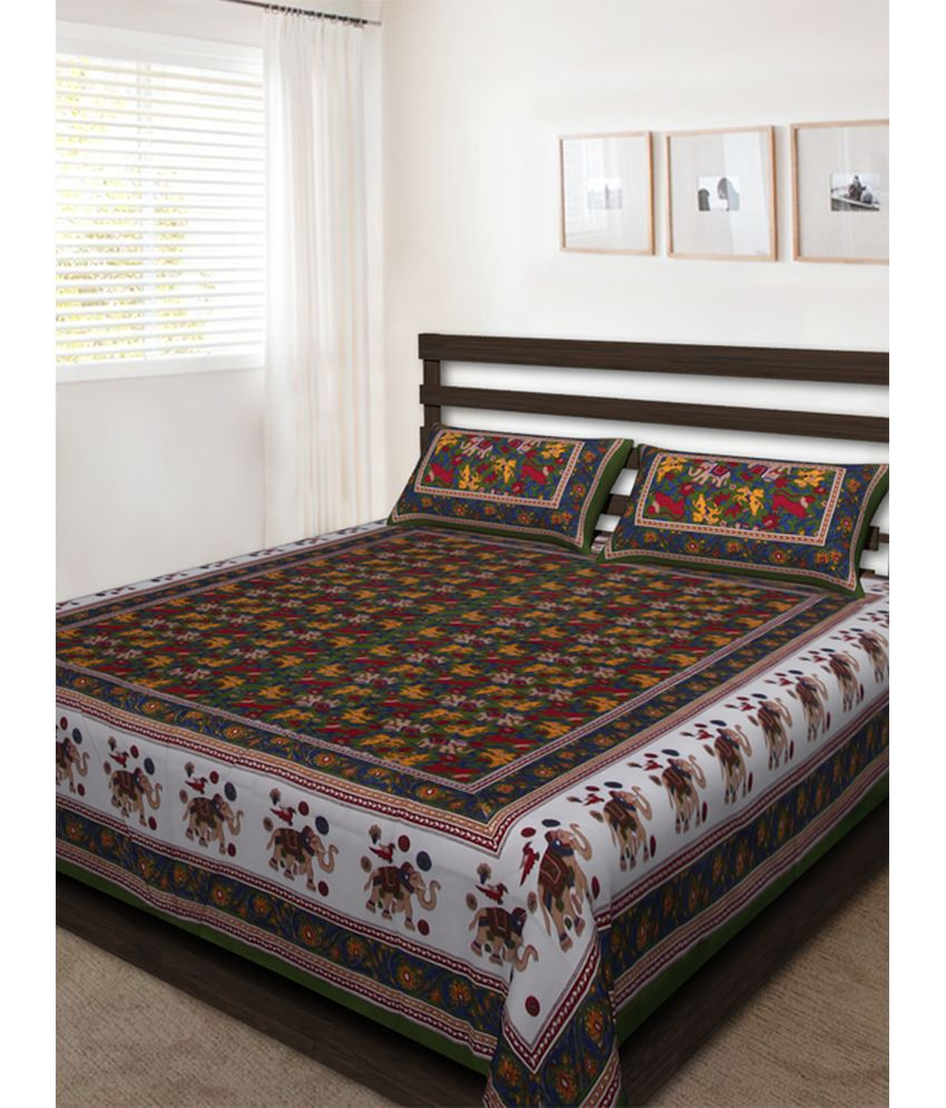 Bombay Spreads Cotton Multicolor Double Bedsheet