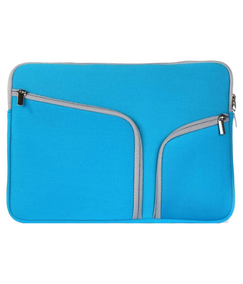 Go Crazzy Blue P.U. Laptop Sleeve