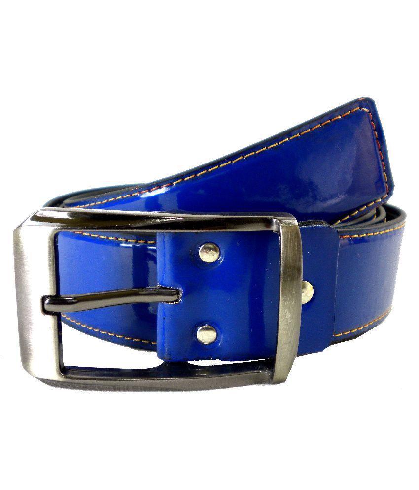 Opaque Blue Casual Belt for Men