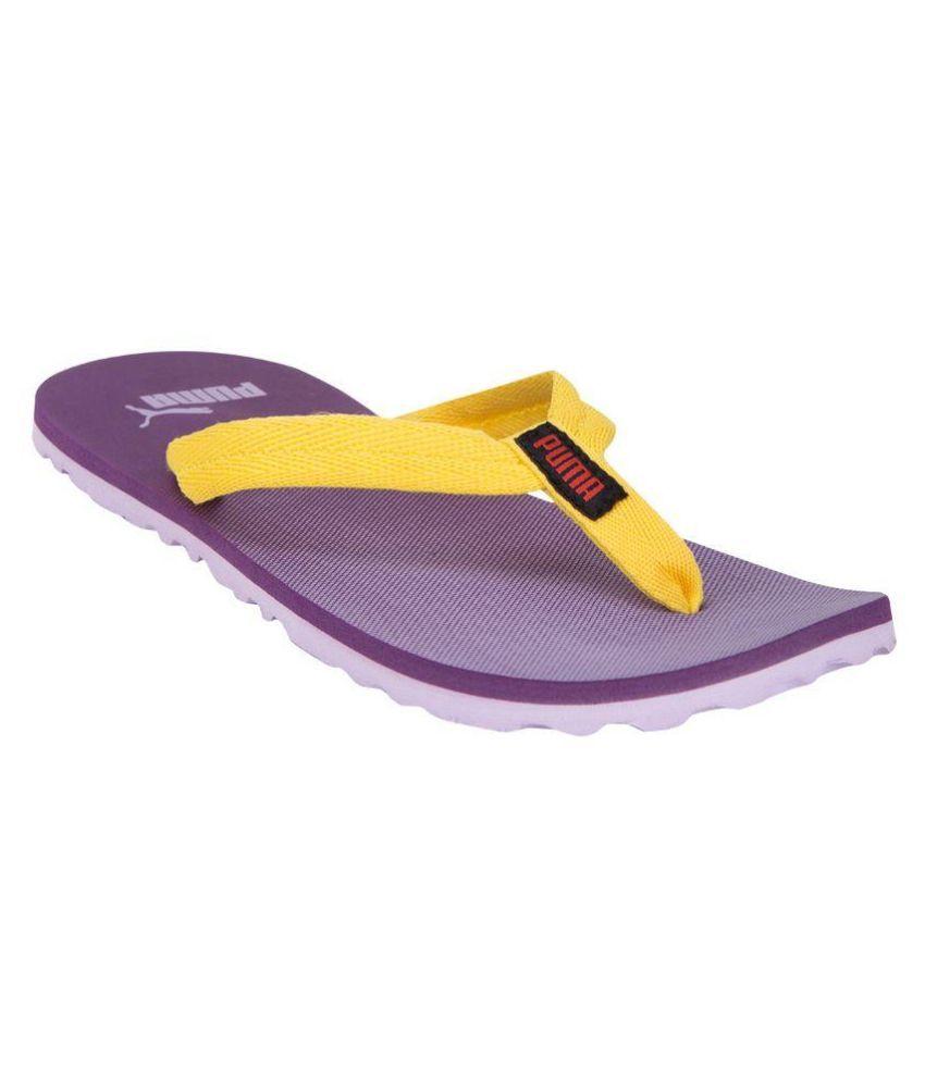 PUMA. Yellow Flip Flops