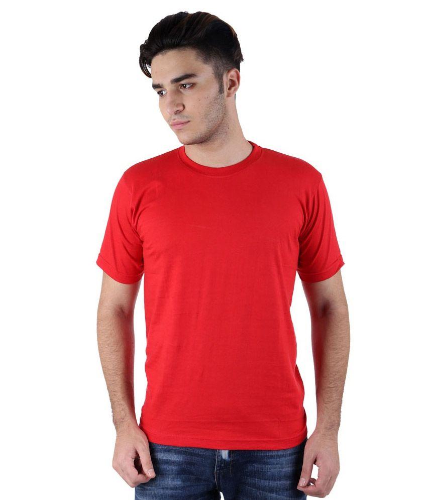 TrendBae Red Cotton T-Shirt
