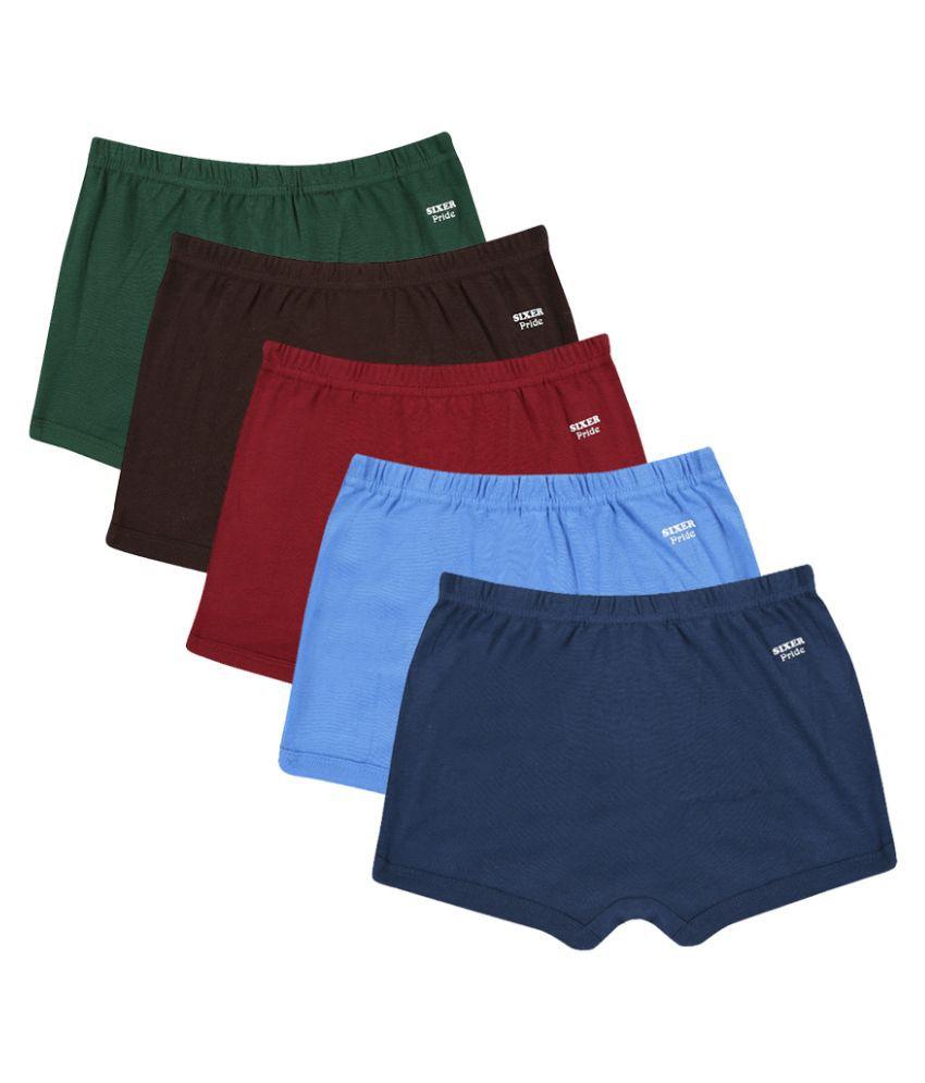 Sixer Multicolor Cotton Innerwear -Set of 5