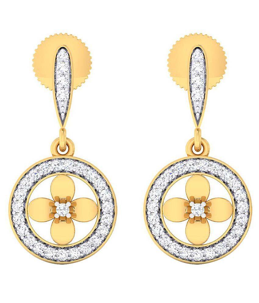 Dishis Designer Jewellery 18k BIS Hallmarked Gold Diamond Jhumki