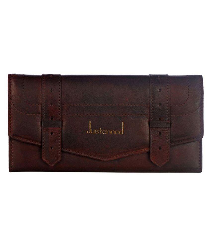 Justanned Brown Solid Bi Fold Wallet