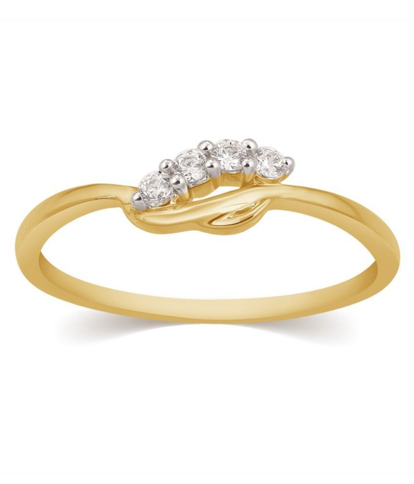 Kama Jewellery 18kt Yellow Gold Diamond Ring