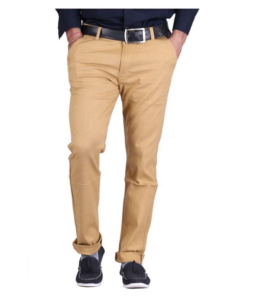 Luv Kush Beige Slim Fit Chinos