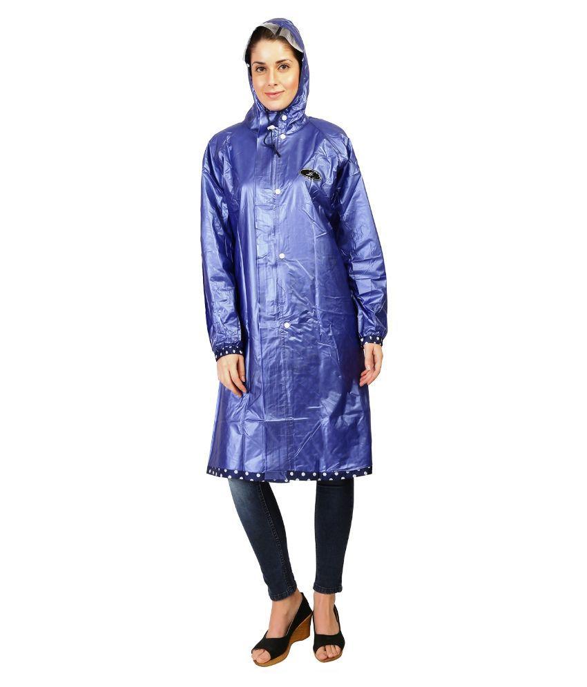 Zeel Blue Long Raincoat