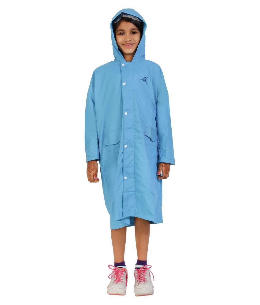Zeel Blue Viscose Raincoat