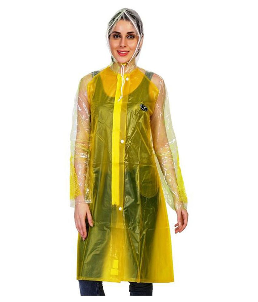 Zeel Yellow Waterproof Long Raincoat