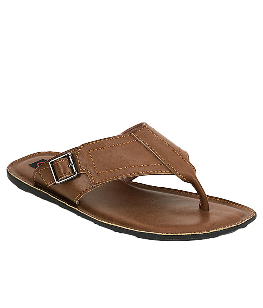 Get Glamr Brown Slippers