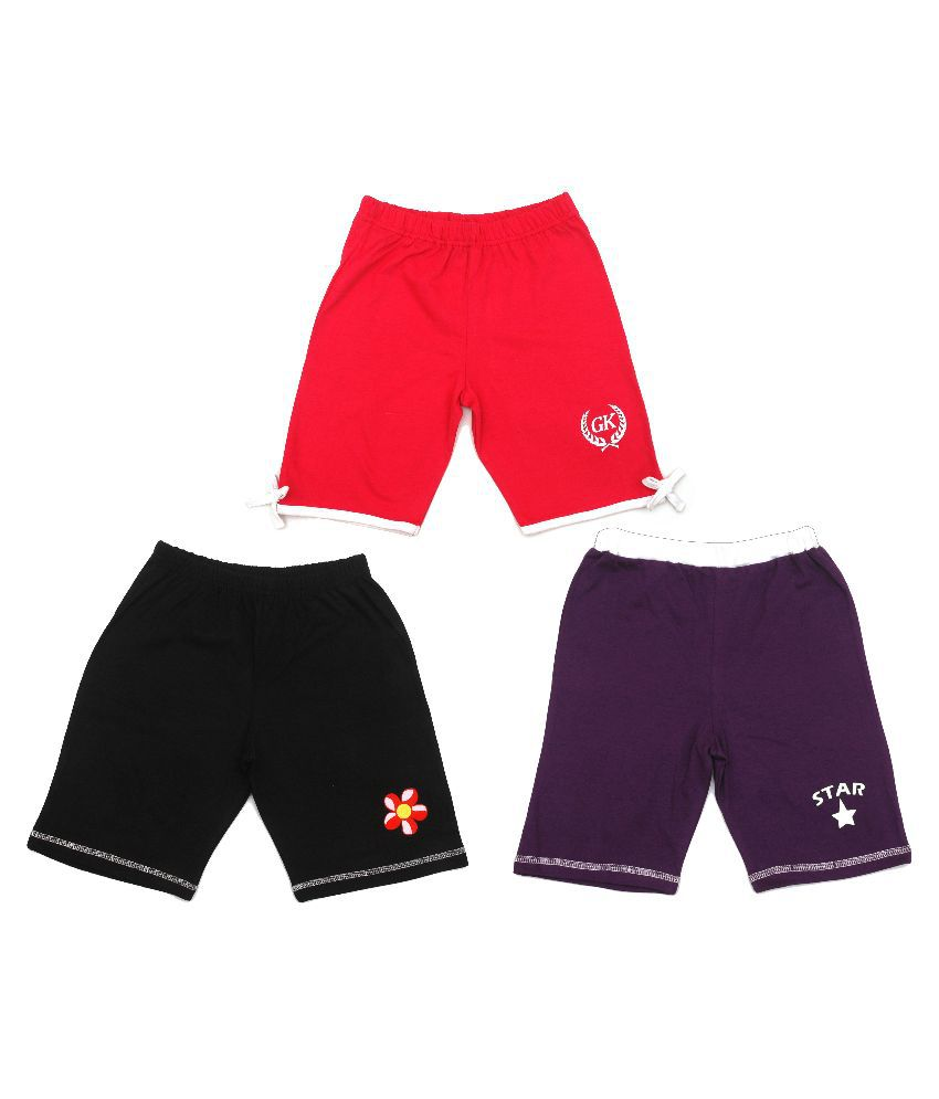 Gkidz Multicolour Shorts - Pack of 3