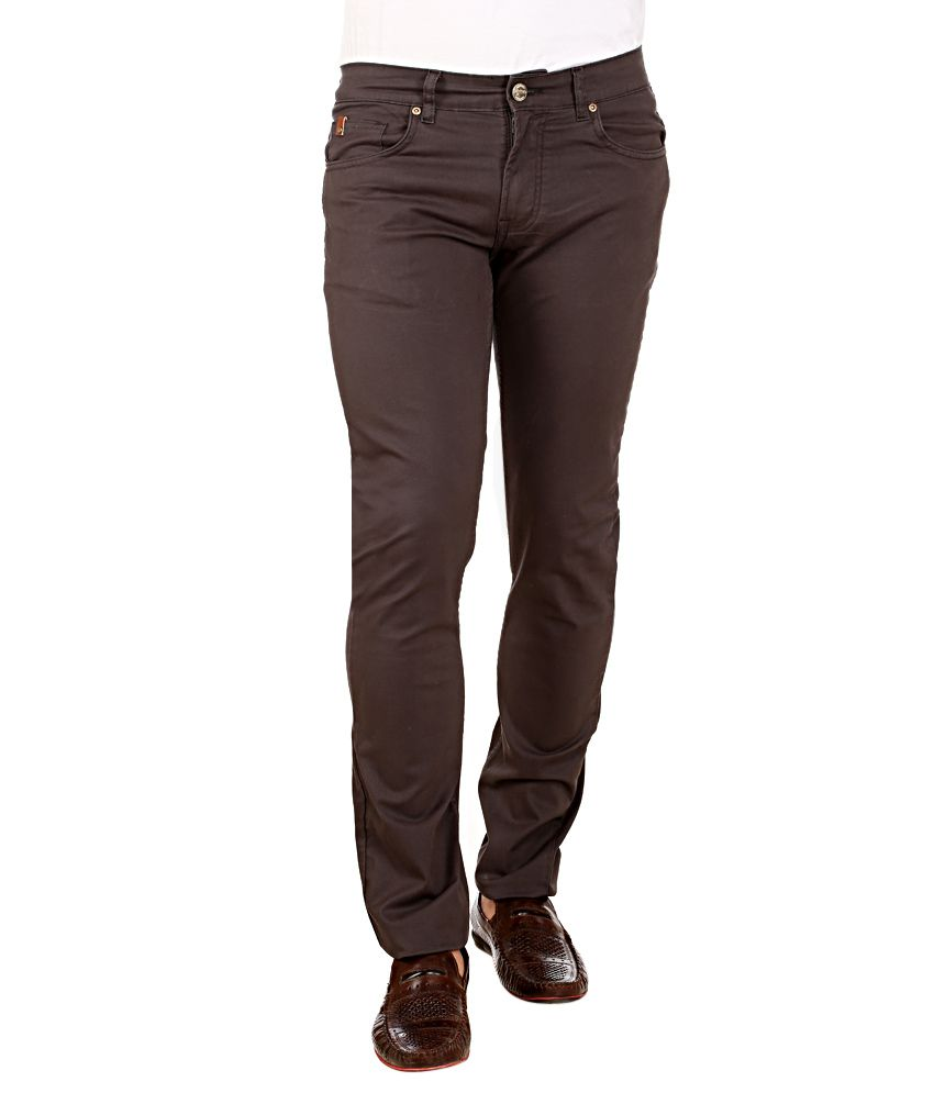 Red Tape Grey Slim Fit Trousers