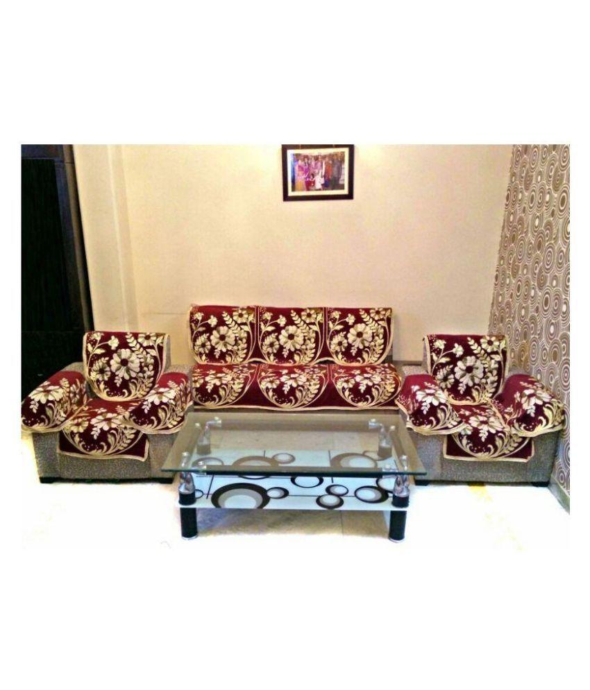 Astonishing Mangal 5 Seater Velvet Set Of 12 Sofa Cover Set Pabps2019 Chair Design Images Pabps2019Com