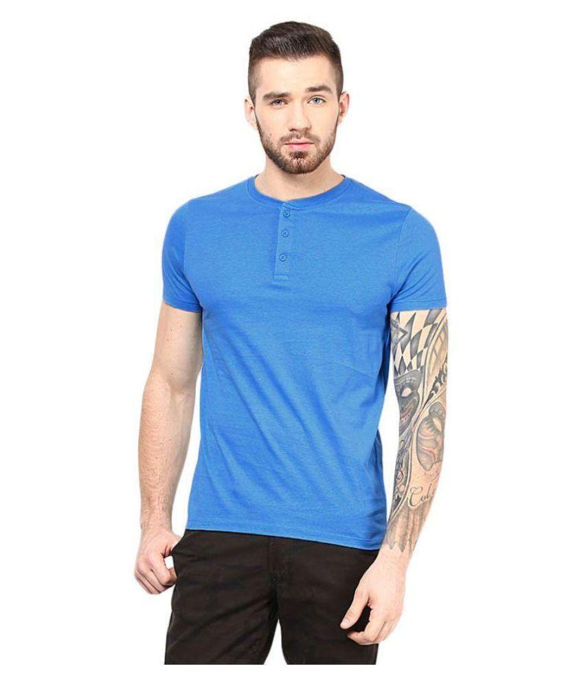 Gallop Blue Henley T Shirt