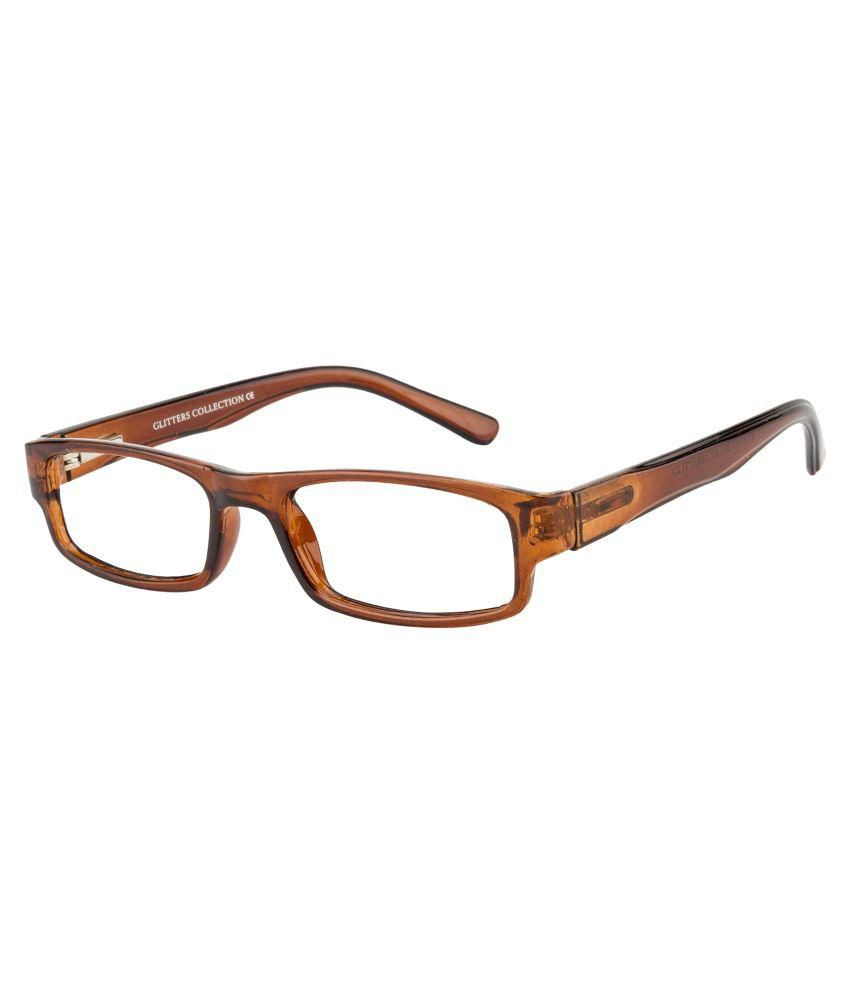 Glitters Brown Rectangle Spectacle Frame ( B1215C4 )
