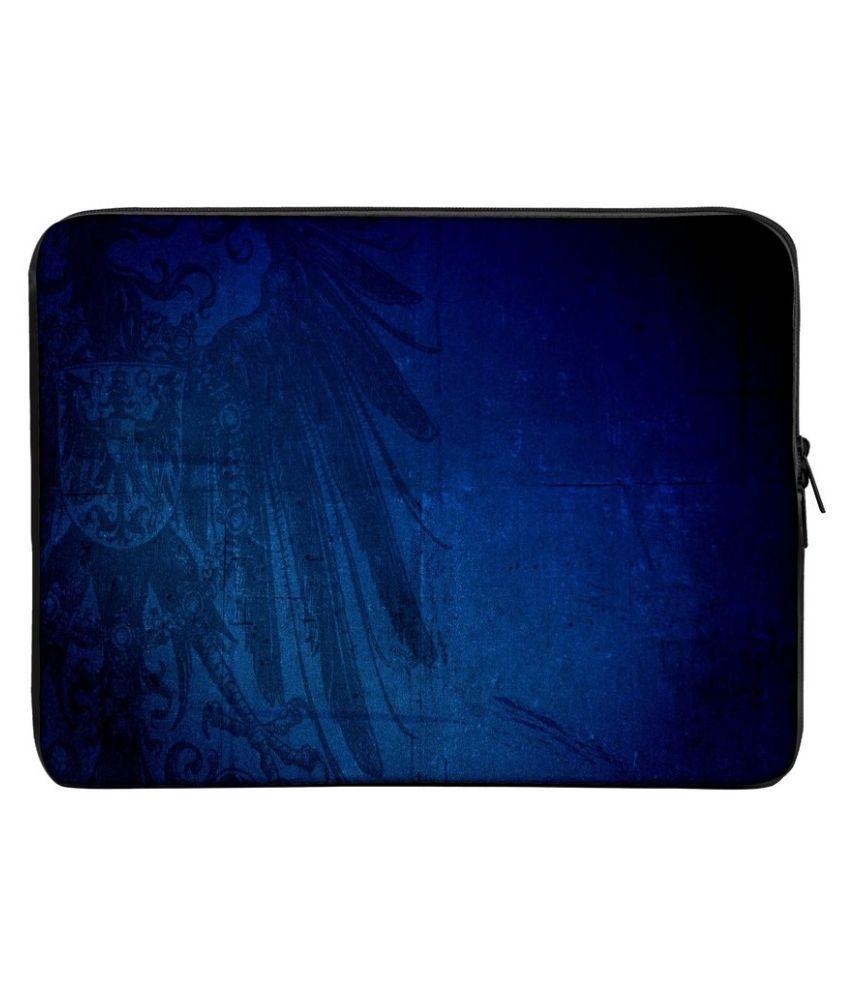 Panda Creation Printed Laptop Sleeve - Blue