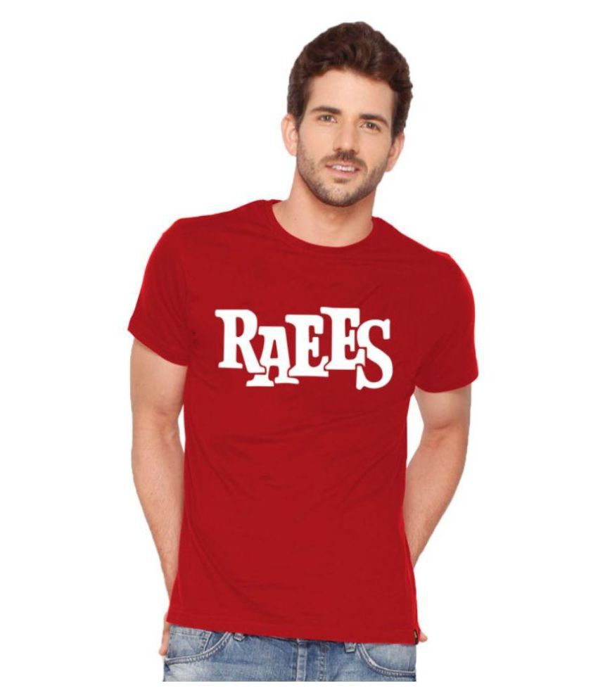 Discount 89 Red Round T Shirt