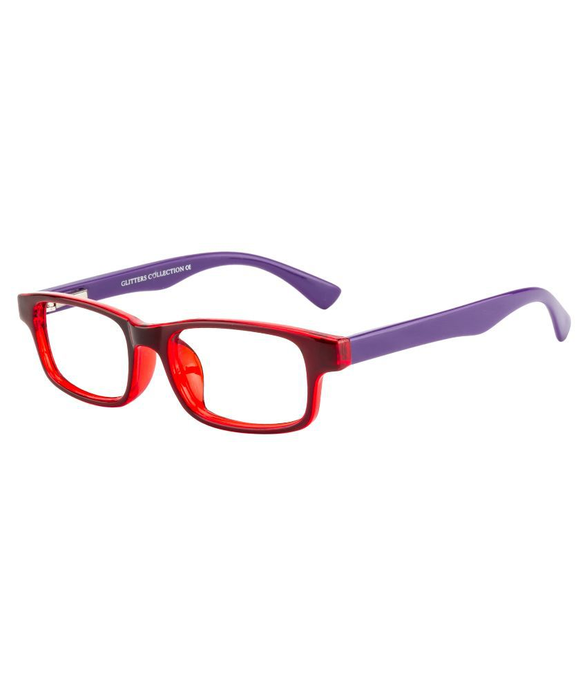 Glitters Purple Rectangle Spectacle Frame ( B1225C5-8 )