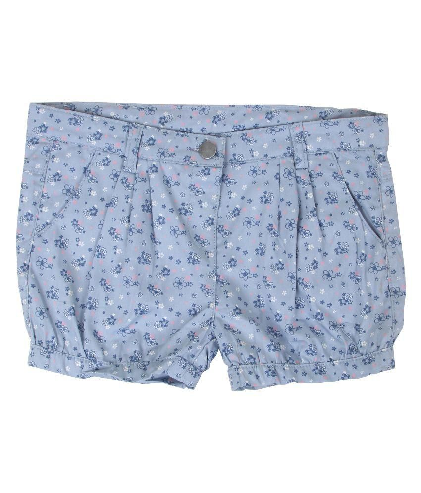 Innocent Kids Blue Cotton Shorts