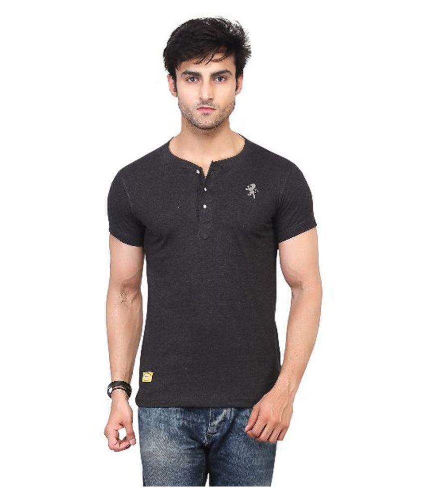 Kkoir Black Henley T Shirt