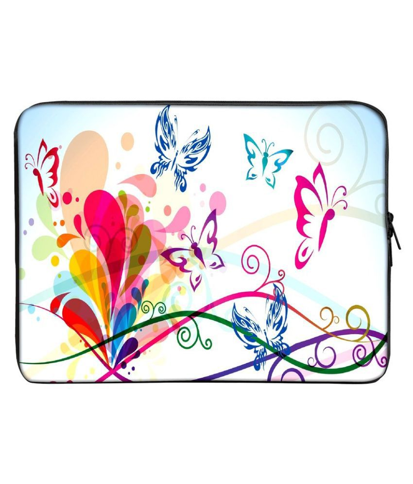 Panda Creation Printed Laptop Sleeve - Multicolour