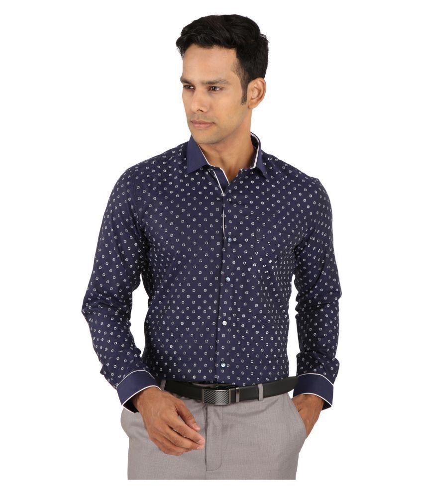 Warewell Navy Formal Slim Fit Shirt