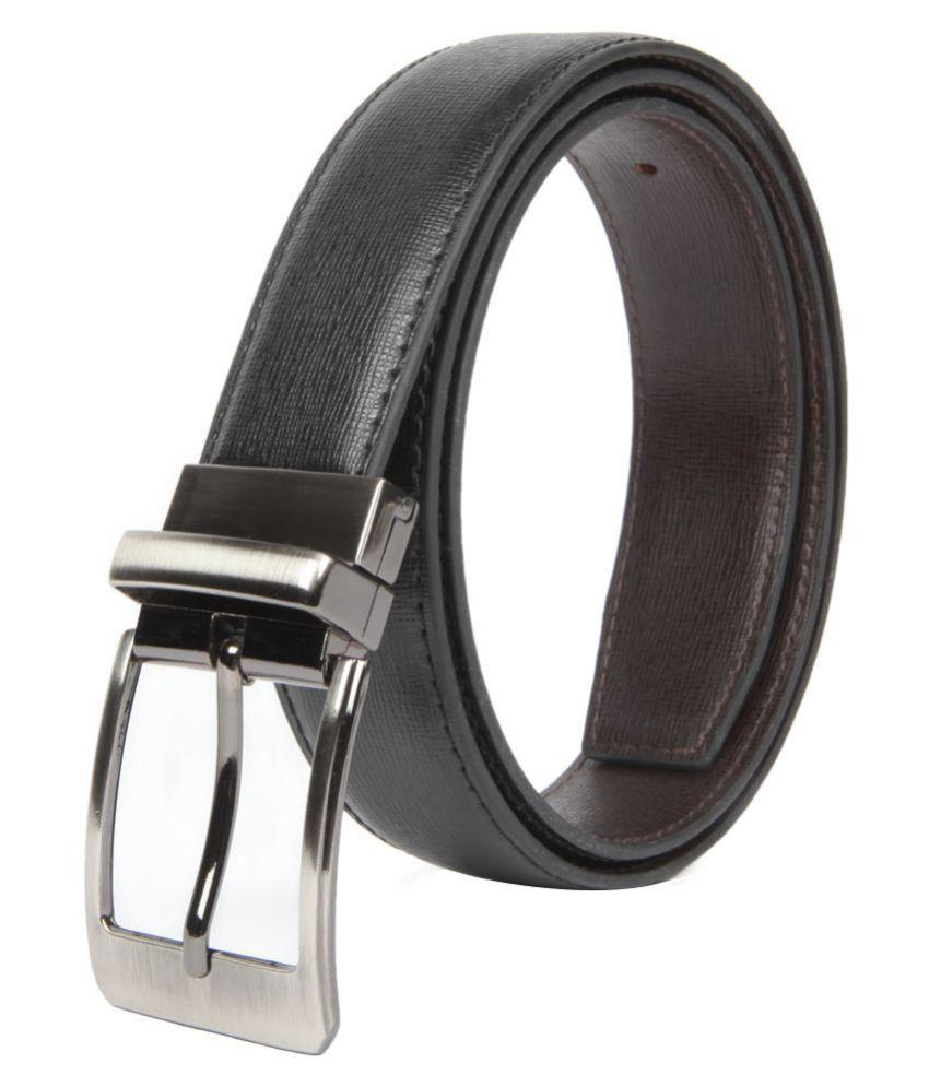 Chisel Black Leather Formal Belt for Men