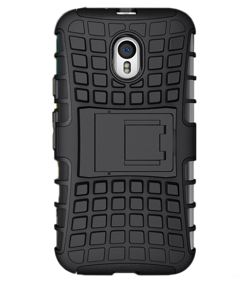new concept 49688 d67c7 Lomoza Kickstand Rugged Armor Cover for Motorola Moto G4 Plus - Black