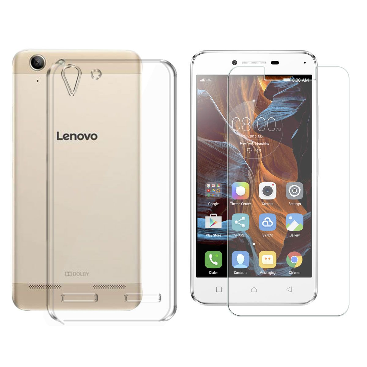 best value 4d66b 9459f Deltakart Back Cover for Lenovo Vibe K5 Plus With Tempered Glass