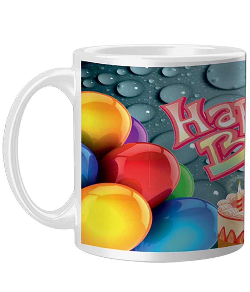Pixnfun Multicolor Ceramic Coffee Mug