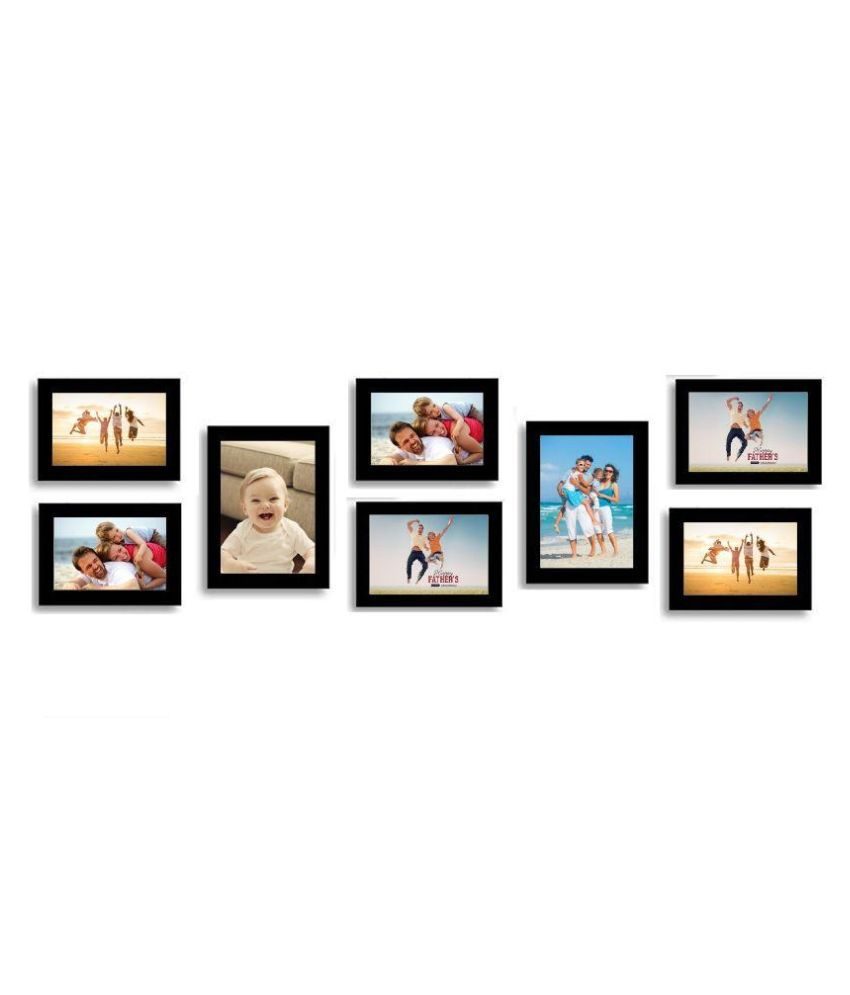 SwadesiStuff MDF Wall Hanging Black Collage Photo Frame
