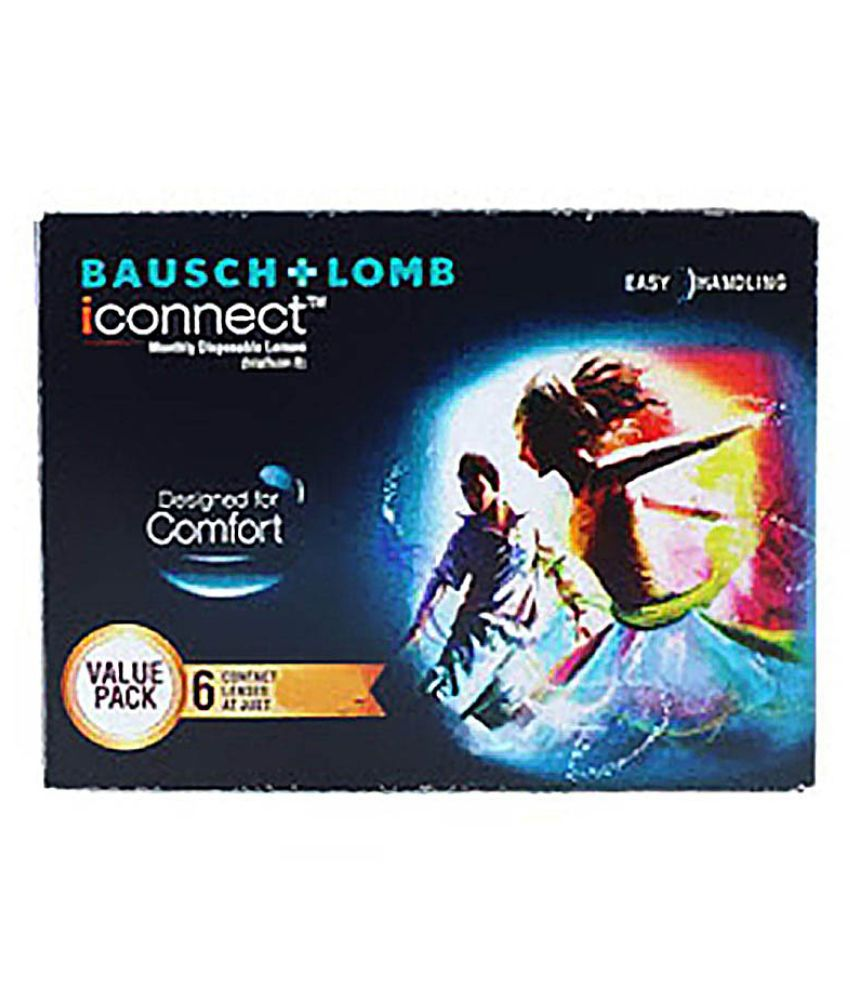 Bausch & Lomb Iconnect Non Colored Monthly Disposable Contact Lenses