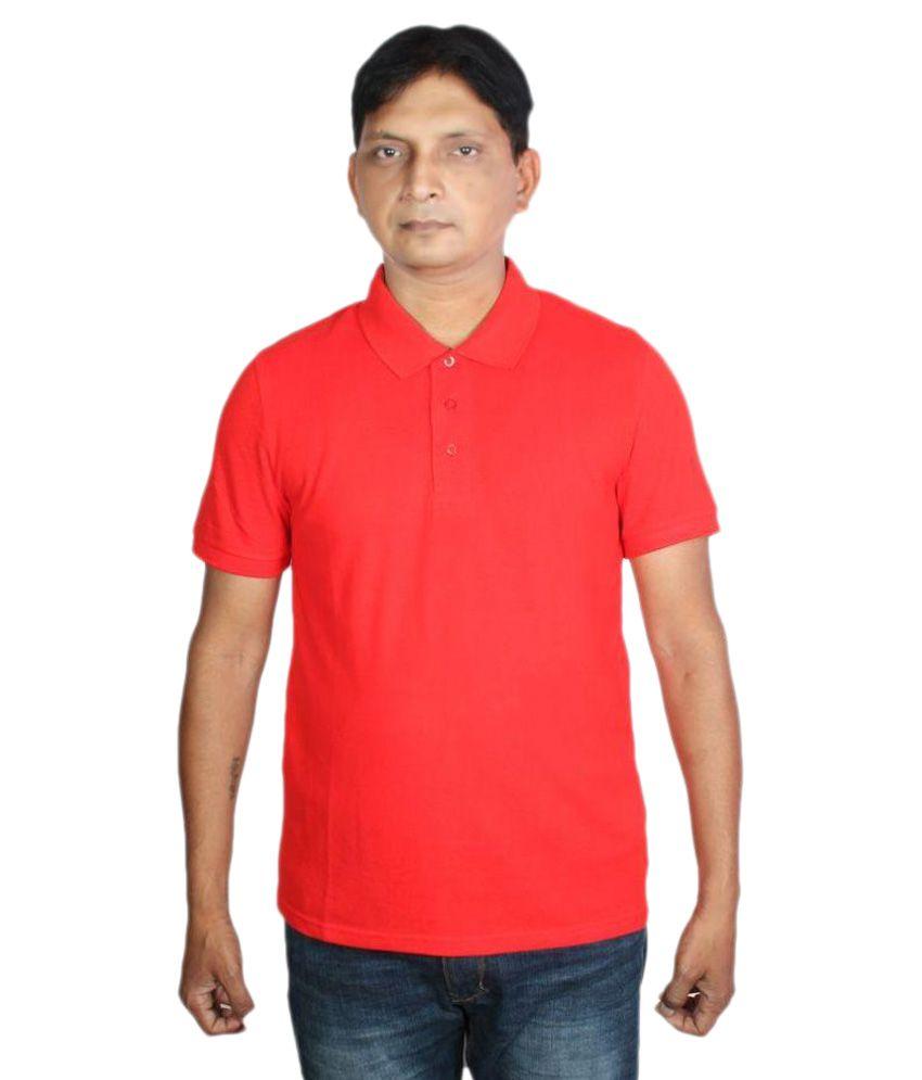 Puma Red Polo T Shirts