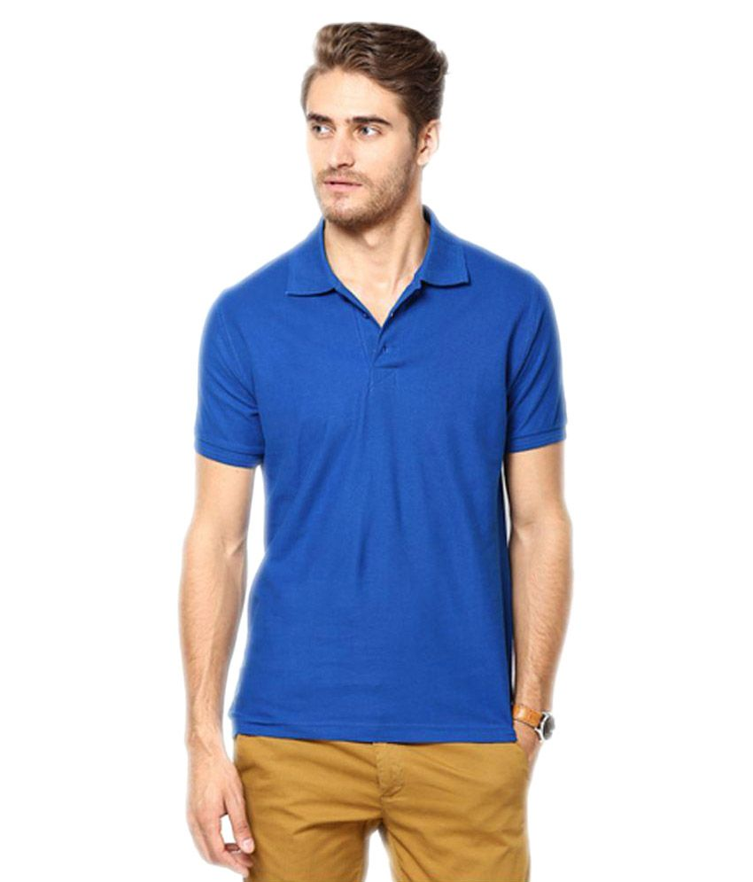 Concepts Blue Cotton Polo T-Shirt