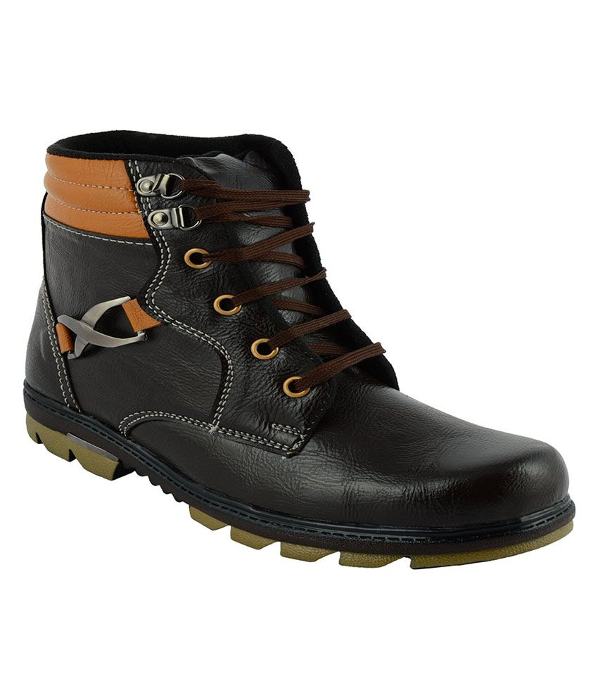 R S Shoes Black Boots