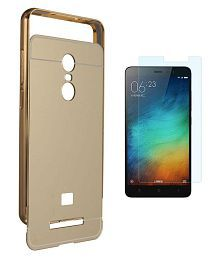 Quick View. Xiaomi Redmi Note 3 Mirror Back Covers PWORLD - Golden Luxurious Mirror Back Cover With Tempered Glass