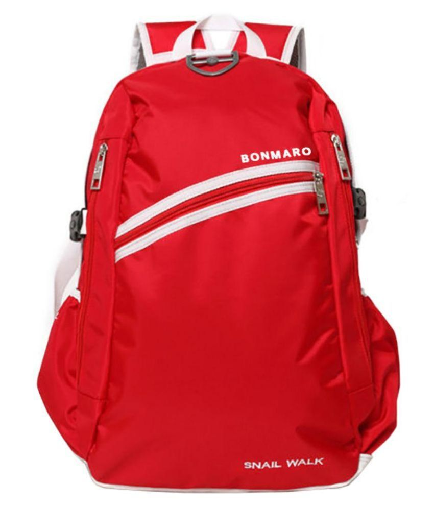 9bc7ecb265 Bonmaro Snail Walk Red 25 Nylon College Bag