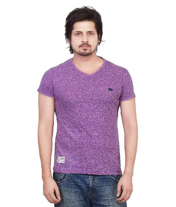 Kkoir Purple Round T Shirt