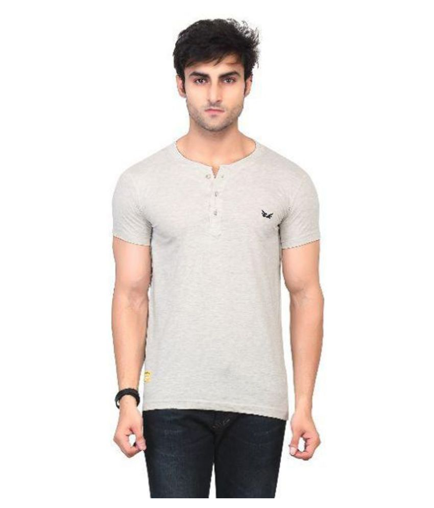 Kkoir Grey Henley T Shirt No