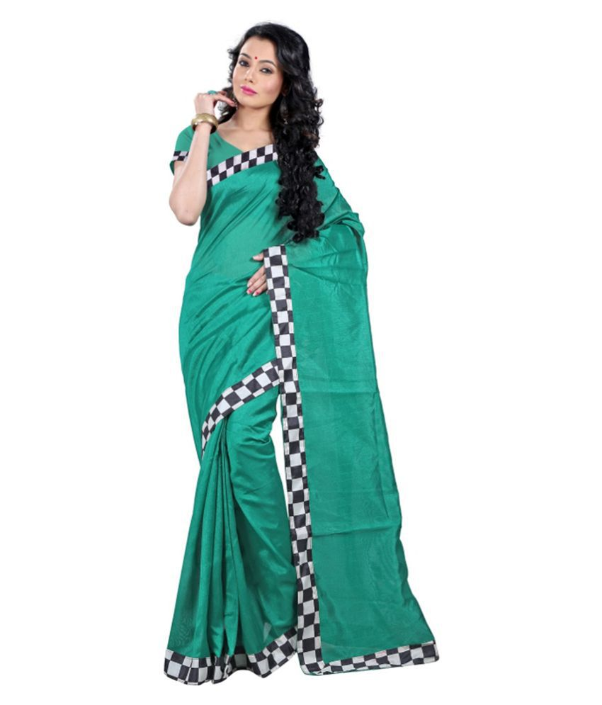 Muta Green Georgette Saree